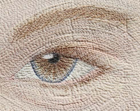 Amazing Quilt: Amazing Quilt, Fiberart, Quilts Portrait, Art Quilt, Brown Eye, Barn Quilt, Threadpainting