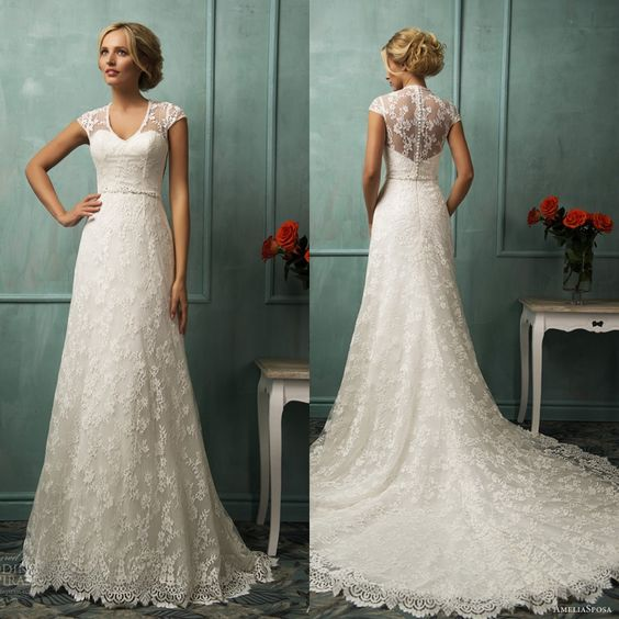 LOVE the front. Hate the back. :\ AmeliaSposa Wedding Dresses 2014 Collection