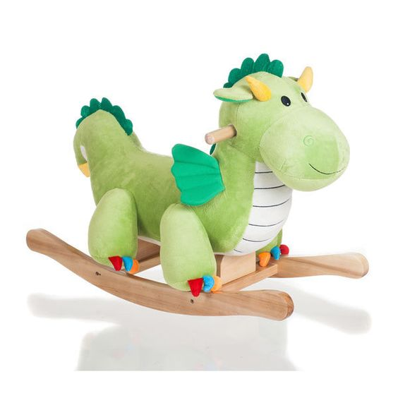 dragon rocking horse baby toddler chair toy rocker plush stuffed animal dinosaur happytrails baby nursery cool bee animal rocking horse