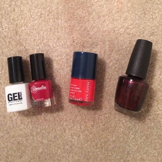 Red Nail Bundle Gel Nail Kit Red Nails Red Gel Nails