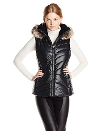 BCBGeneration Women's Packable Down Vest, Black, Small at Amazon Women's Coats Shop