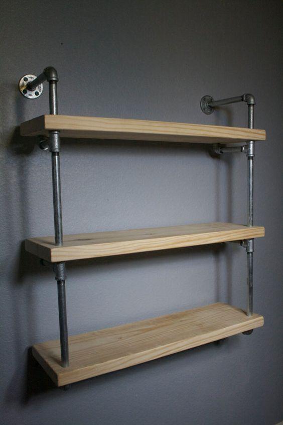 Bathroom Shelf Pipe Shelves Industrial Furniture Bathroom Shelving Unit Bathroom Storage