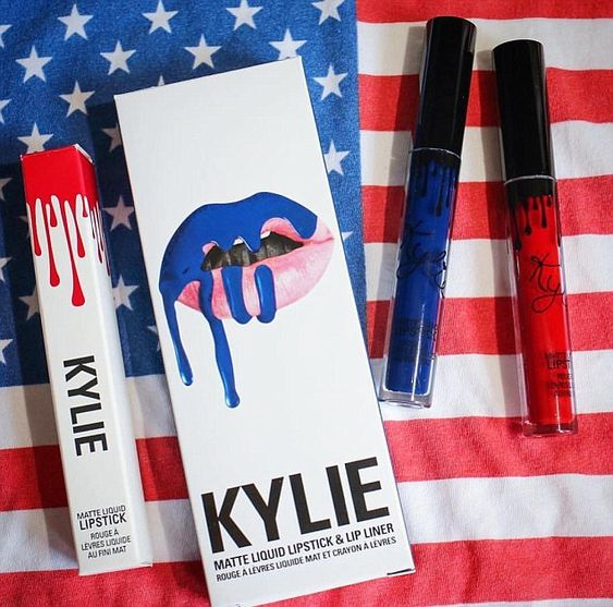 All American: Jenner showed off her red, white, and blue lip kit products on…
