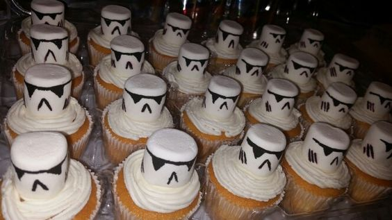 Storm Trooper cup cakes made by Alicia.