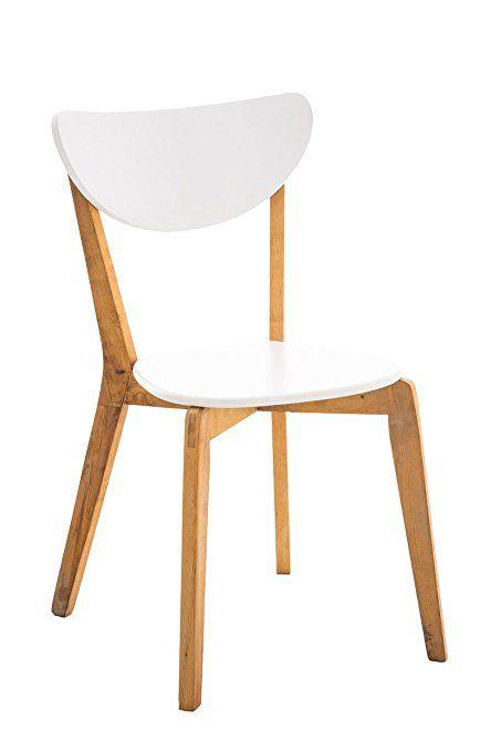 CLP Retro Esszimmer-Stuhl ARABIA, 49,90 Euro Amazonde Birken-Holz - küchenstuhl weiß holz