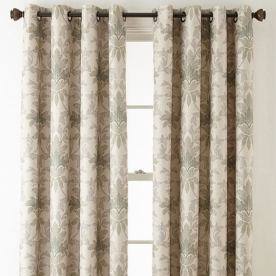 Linden Street Aurora Haven Damask Blackout Grommet Top Curtain
