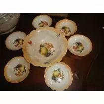 Tigelas Antigas De Porcelana Com Frutas Para Sobremesa  (IRFM  270,00)