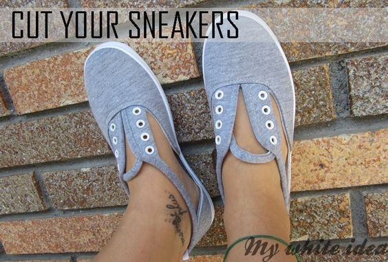 CUT YOUR SNEAKERS | MY WHITE IDEA DIY