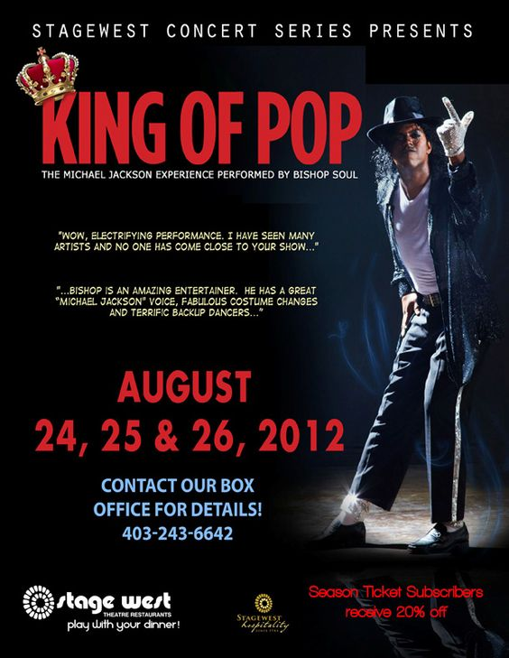 Coming later this month to @stagewestcgy - Michael Jackson (kind of), Aug 24-26.  Get your tickets now!  #yyc  #stagewest  #michaeljackson