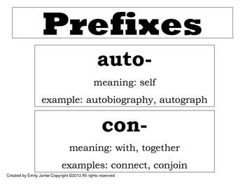 FREE Word Wall/ Flash Cards- Prefix, Suffix, Greek/Latin Roots ...