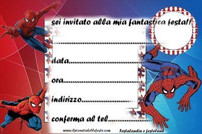 Festalandia E Festeland Spiderman Party Spider Man Inviti Di Compleanno Inviti Alla Festa Di Compleanno