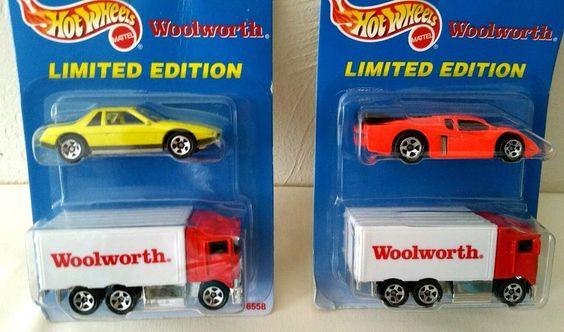 2 Hot Wheels Woolworth Truck Lamborghini Fiero Limited Edition NIP #HotWheels…