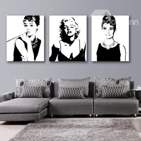 Marilyn monroe and audrey hepburn wall art prints this for Audrey hepburn bedroom ideas