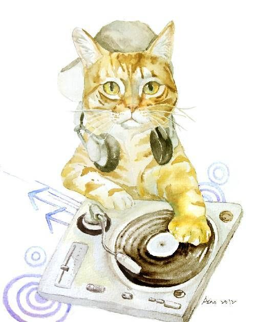 PAINTING _ DEEJAY CAT