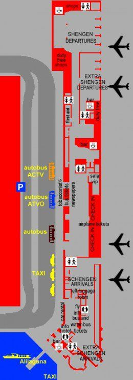 Marco Polo Airport map