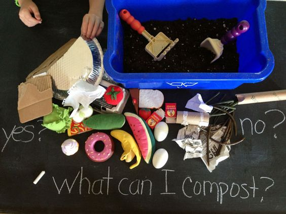 Use toys rubber worms and a bin full of soil to teach for Uses of soil for kids