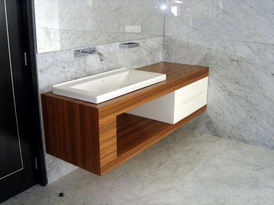 Mueble bajo lavabo banos tk pinterest b squeda y taz n - Mueble lavabo madera ...