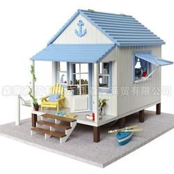 Online Shop Wooden toys doll house miniature educational DIY kit with 3d furniture Diy handmade wool assembling model gift|Aliexpress Mobile...