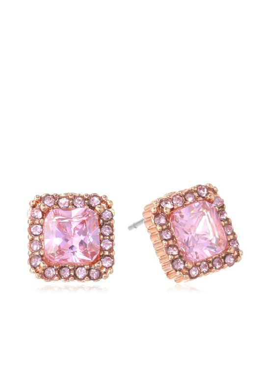 Rose Gold Boost Earrings by Betsey Johnson to add a little sparkle!