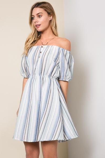 Dani Off Shoulder Dress - MOD&SOUL Fashion Clothing and Jewelry  - 1