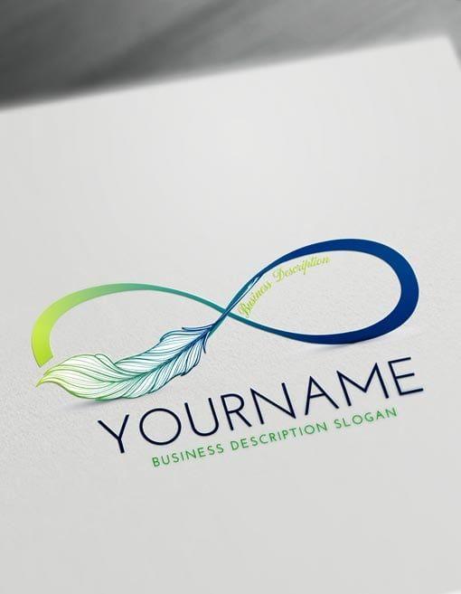 Free Infinity Logo Creator Make Online Infinity Symbol Logo Design Free Templates Logo Design Free Logo Design Template