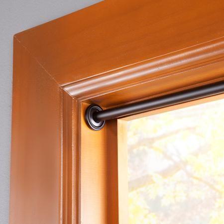 Curtains Ideas curtain rod walmart : Eclipse Room Darkening Tension Window Curtain Rod, 5/8