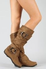 Yorky Buckle Slouchy Knee High Boot.....hmmm sorta like them not so sure about the big buckle things though.