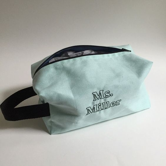 New customized teacher toiletry bag are now available! Customize yours for a teacher you may know. They make great gifts and are super roomy for all types of supplies!