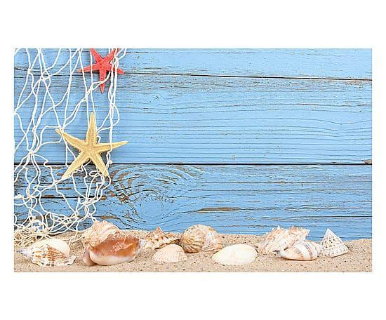 Passatoia cucina in vinile Legno e Spiaggia