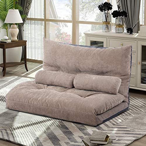 Merax Floor Sofa Bed Adjustable Sleeper Bed Sofa Couches Living