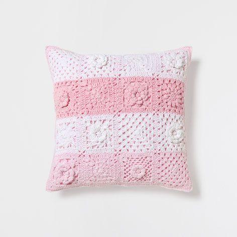 Coj n crochet rayas cojines cama zara home espa a - Cojines cama zara home ...