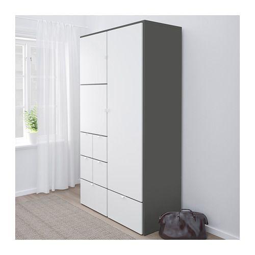 Visthus Kleiderschrank Grau Weiss Ikea Deutschland