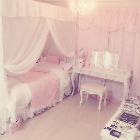 Bedrooms Pink Bedroom Dream Bedroom Cute Kawaii Room Pastel Room