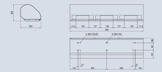 Bản vẽ quạt chắn gió ACK-120-900