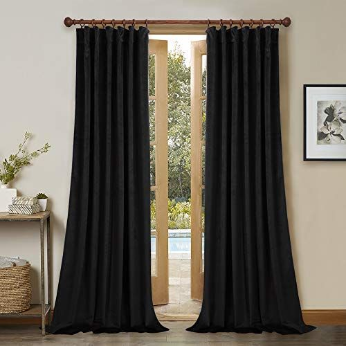 Patio Door Blackout Velvet Curtains