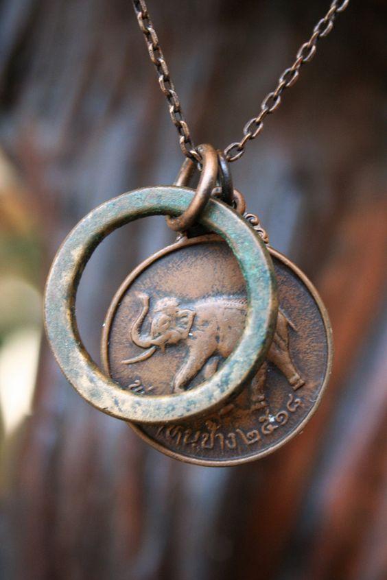 1975 Copper Elephant Necklace