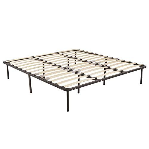 Outils Twin To King Size Wood Metal Bed Frame Platform Bedroom Mattress Foundation New Wooden Bed Slats Metal Bed Frame Metal Beds