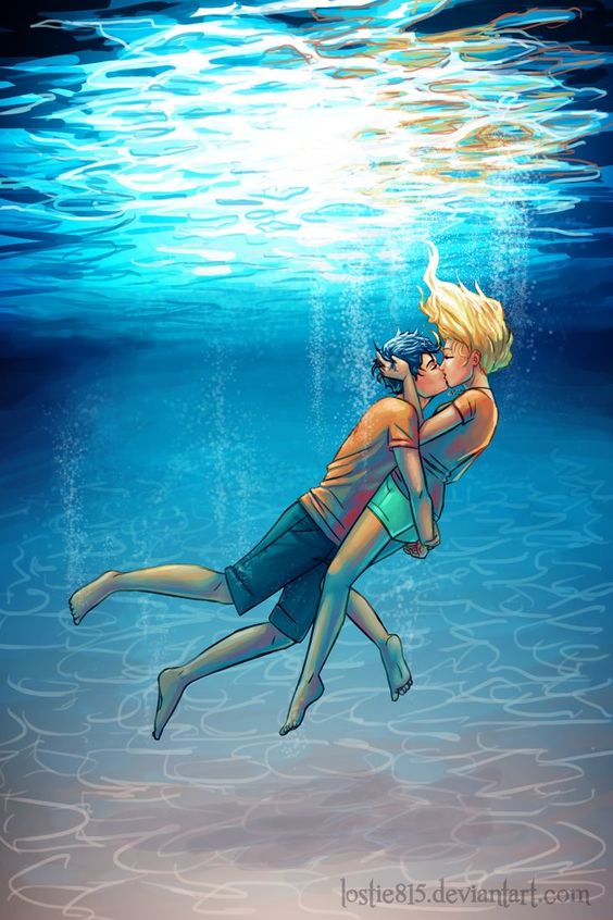 """It was the best underwater kiss of all time..."" ~Percy Jackson and the Olympians: The Last Olympian:"