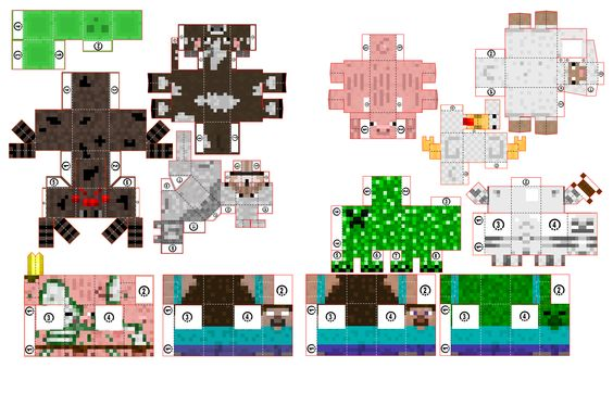 Minecraft Papercraft Paper Toys Minis