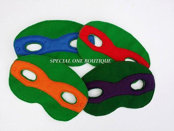 Turtle Felt Mask Felt Toy Felt Game Party by SpecialOneBoutique, $7.00