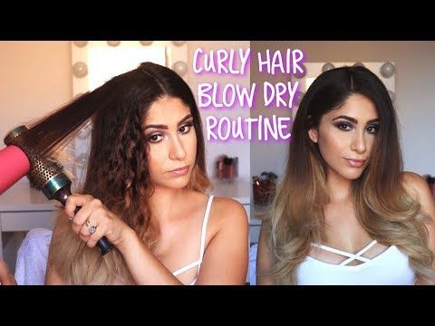 How I Blow Dry My Thick Curly Hair Blow Out At Home Youtube Blow Dry Curly Hair Thick Curly Hair Curly Hair Styles