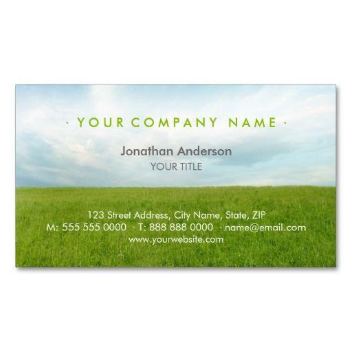 Green Field business card