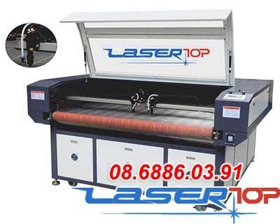 Máy khắc laser tích hợp camera & hệ thống lên liệu tự động (khổ 1300x800mm)