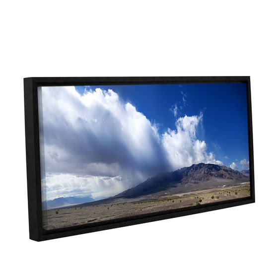 Storm In Death Valley by Dan Wilson Gallery-Wrapped Floater-Framed Canvas