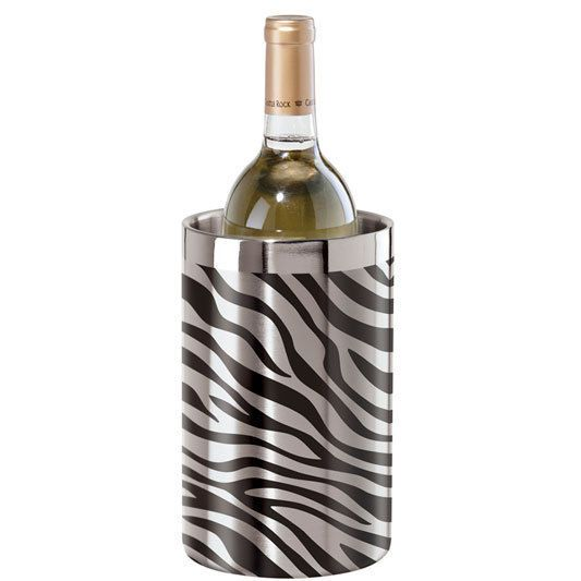 Zebra Stainless Steel Double Wall Wine Cooler by Oggi