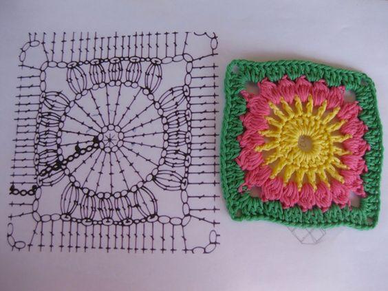 Cuadro tejido crochet