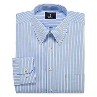 Fear shirt jcp | Stafford® Long-Sleeve Travel Wrinkle-Free Oxford Dress Shirt