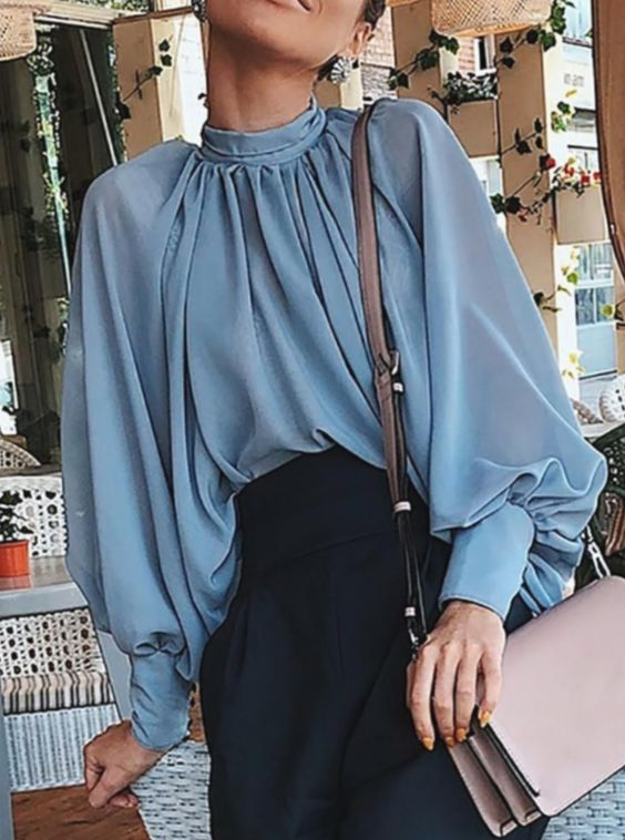 35 Wide Sleeve Blouses That Will Make You Look Fantastic outfit fashion casualoutfit fashiontrends