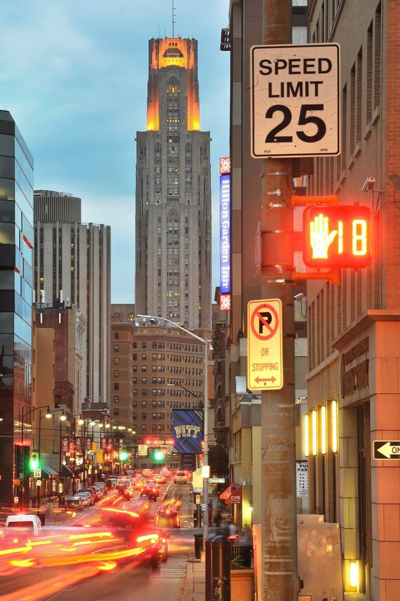 Forbes Ave. University of Pittsburgh. Oakland. Pittsburgh, PA. By Chris Litherland Photography