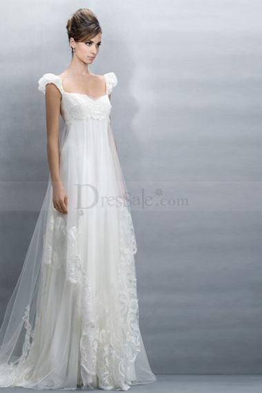 Ravishing Empire Wedding Dresses with Capped Sleeve